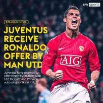 Sky Italia: Man United ha ofrecido 25 millones de euros por Ronaldo