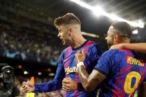 Pique ha portato la prima vittoria del Barcellona in Champions League