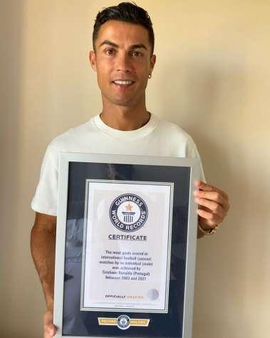 Ronaldo avec un nouveau record dans le livre Guinness des records