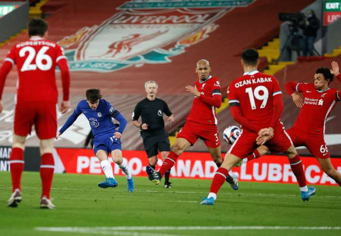 Chelsea inasababisha ushindi wa kihistoria wa tano mfululizo kwa Liverpool huko Anfield