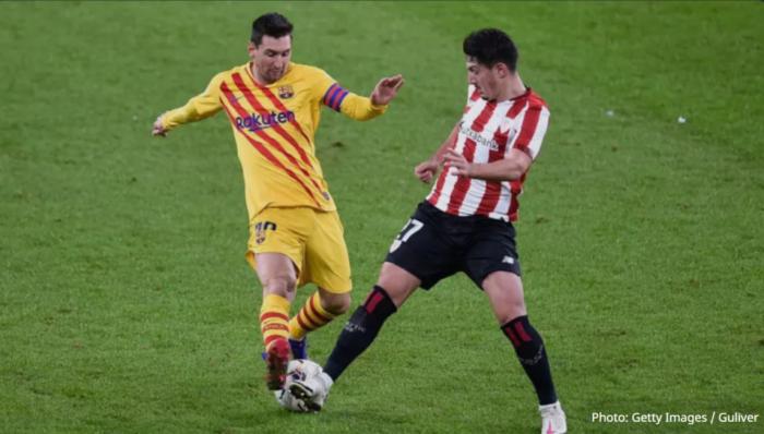 El reserva del Athletic llamó a Messi a