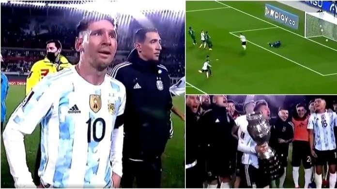 梅西打破貝利進球紀錄後哭了