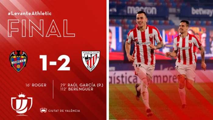 Athletic Bilbao wameiondoa Levante na watacheza fainali mbili za Kombe mwezi Aprili