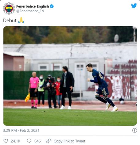 Ozil ha esordito in Turchia con una vittoria sulla squadra di Strahil Popov
